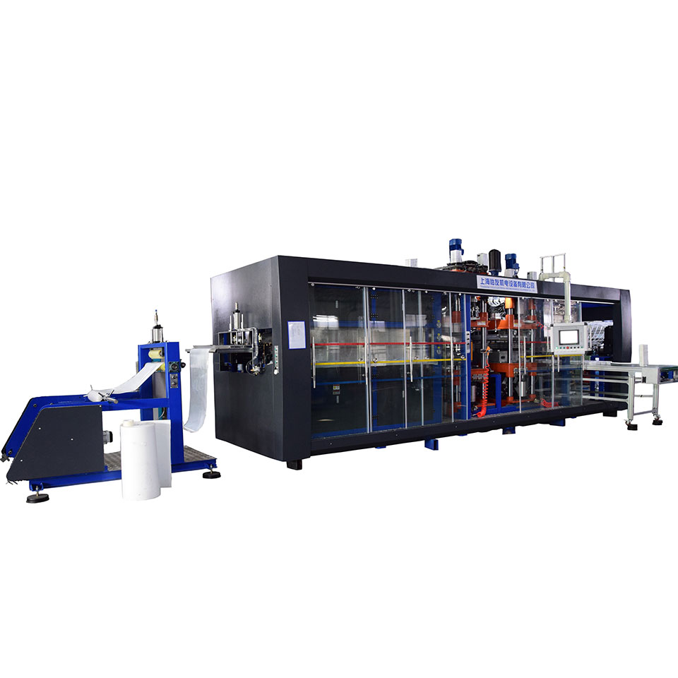 Positive and negative pressure thermoforming blister machine