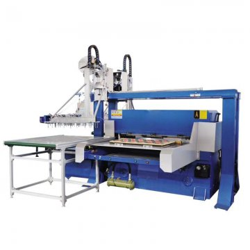 100T unilateral automatic feeding hydraulic punching machine