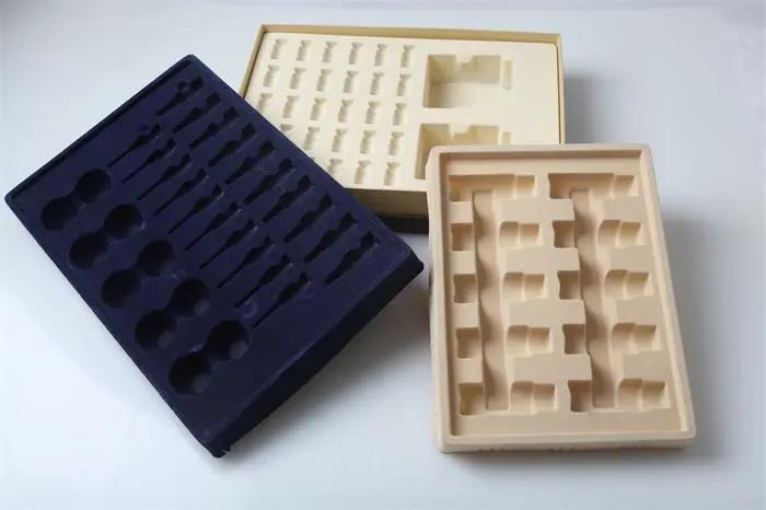 Application of flocking sheet in thermoforming packaging